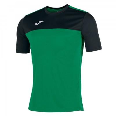 Футболка игровая Joma зеленая с черными вставками WINNER 100946.401