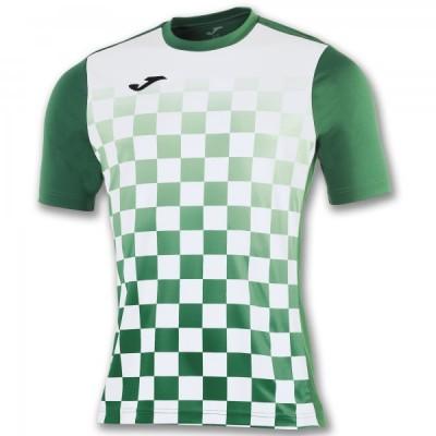 Футболка игровая Joma с рисунком в зеленую и белую клетку FLAG 100682.452