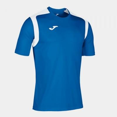 Футболка игровая Joma синяя с белыми вставками CHAMPION V 101264.702