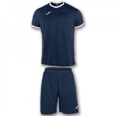 Комплект игровой Joma темно-синяя футболка с темно-синими шортами, модель ACADEMY 101097.302