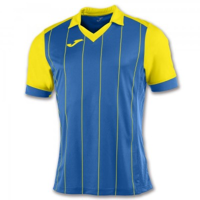 Футболка игровая Joma с синими и желтыми полосками GRADA 100680.709