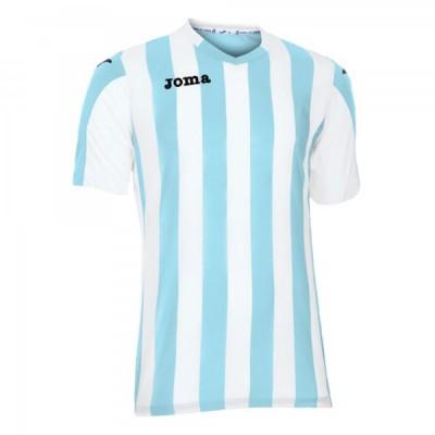 Футболка игровая Joma полоски голубые и белые COPA 100001.352