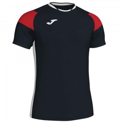 Футболка игровая Joma черная с красными вставками модель CREW III 101269.106