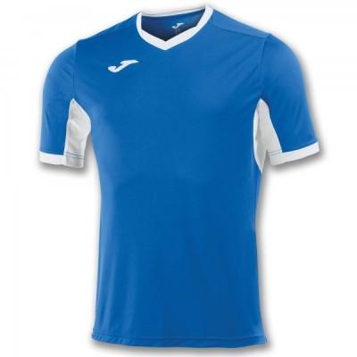 Футболка игровая Joma синяя с белыми вставками CHAMPION IV 100683.702