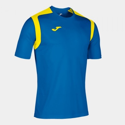Футболка игровая Joma синяя с желтыми вставками CHAMPION V 101264.709