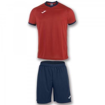 Комплект игровой Joma красная футболка с темно-синими шортами, модель ACADEMY 101097.603