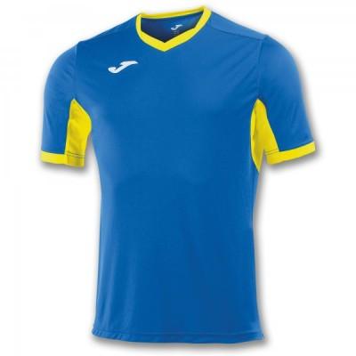 Футболка игровая Joma синяя с желтыми вставками CHAMPION IV 100683.709