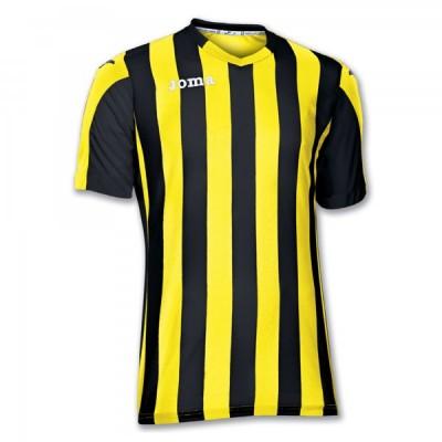 Футболка игровая Joma полоски желтые и черные COPA 100001.900