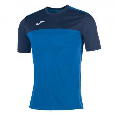 Футболка игровая Joma синяя с темно-синими вставками WINNER 100946.703