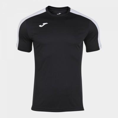 Футболка игровая Joma черная с белыми вставками ACADEMY 101656.102