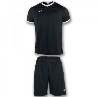 Комплект игровой Joma черная футболка с черными шортами, модель ACADEMY 101097.102