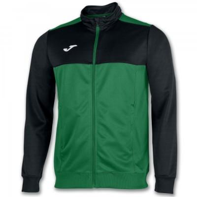 Спортивная кофта Joma WINNER 101008.401 зеленая с черными вставками
