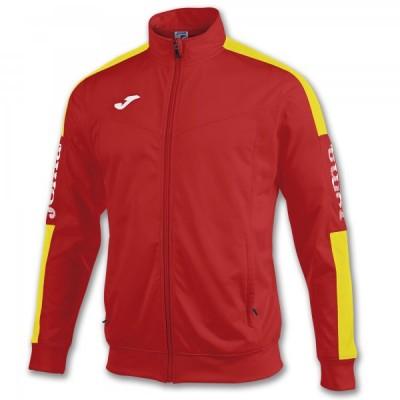 Спортивная кофта Joma CHAMPION IV 100687.609 красная с контрастными желтыми вставками