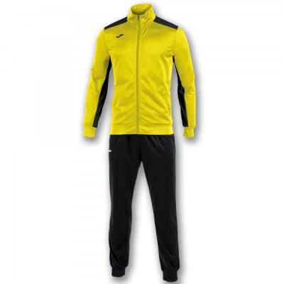 Спортивный костюм Joma ACADEMY 101096.901 желтый с черными брюками