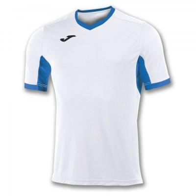 Футболка игровая Joma белая с синими вставками CHAMPION IV 100683.207