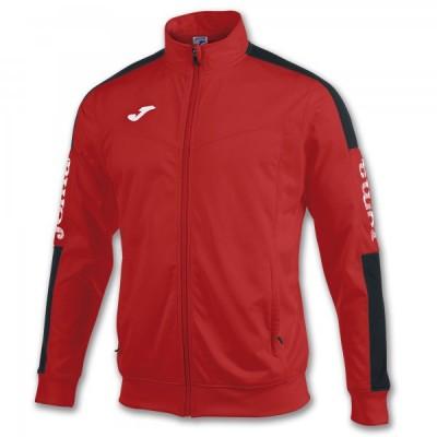 Спортивная кофта Joma CHAMPION IV 100687.601 красная с контрастными черными вставками