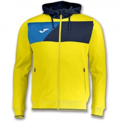 Кофта с капюшоном Joma CREW II 100615.903 желтая с синими вставками