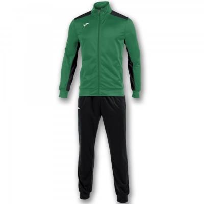 Спортивный костюм Joma ACADEMY 101096.451 зеленый с черными брюками