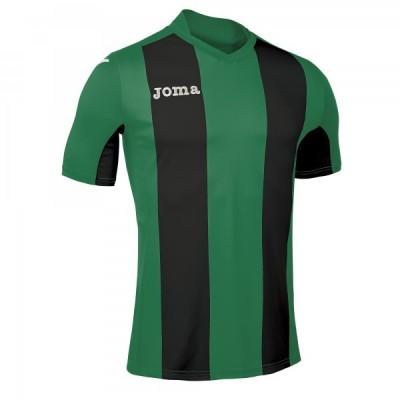 Футболка игровая Joma с зелеными и черными полосками Pisa 100403.451