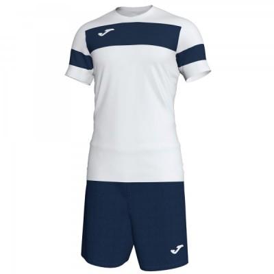 Комплект игровой Joma белая футболка с темно-синими шортами, модель ACADEMY II 101349.203