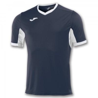 Футболка игровая Joma темно-синяя с белыми вставками CHAMPION IV 100683.302