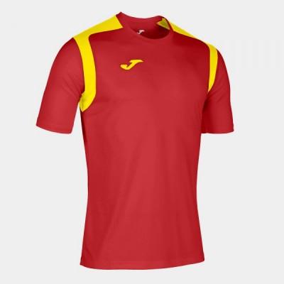 Футболка игровая Joma красная с желтыми вставками CHAMPION V 101264.609
