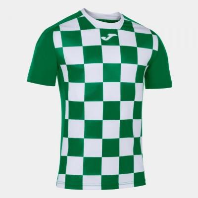 Футболка игровая Joma с рисунком в зеленую и белую клетку FLAG II 101465.452