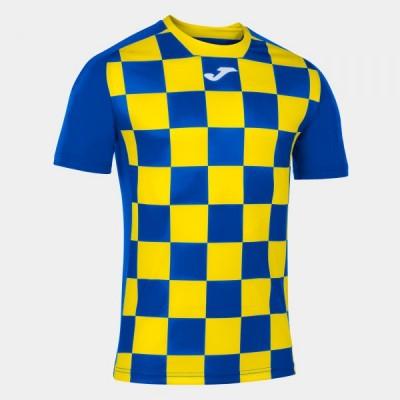 Футболка игровая Joma с рисунком в синюю и желтую клетку FLAG II 101465.709