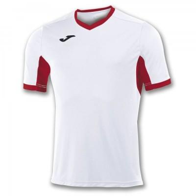 Футболка игровая Joma белая с красными вставками CHAMPION IV 100683.206