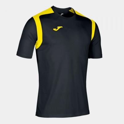 Футболка игровая Joma черная с желтыми вставками CHAMPION V 101264.109