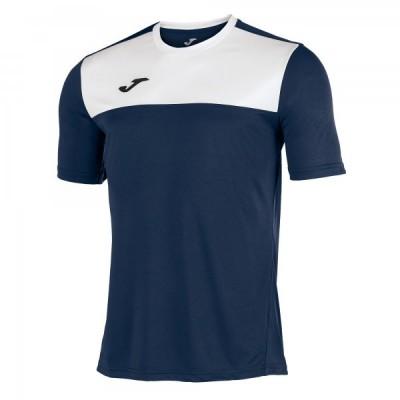 Футболка игровая Joma темно-синяя с белыми вставками WINNER 100946.331