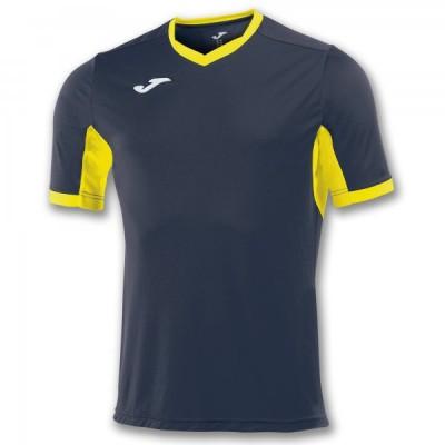 Футболка игровая Joma темно-синяя с желтыми вставками CHAMPION IV 100683.309