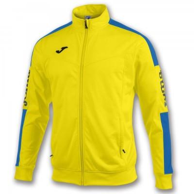 Спортивная кофта Joma CHAMPION IV 100687.907 желтая с контрастными синими вставками