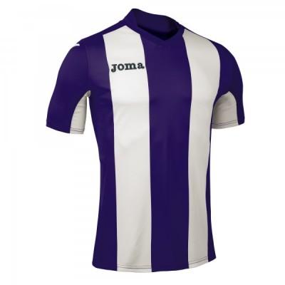 Футболка игровая Joma с филетовыми и белыми полосками Pisa 100403.550