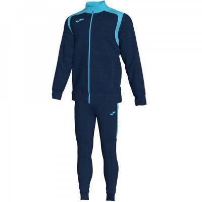 Спортивный костюм Joma CHAMPION V 101267.342 темно-синяя кофта с бирюзовыми вставками и темно-синие брюки