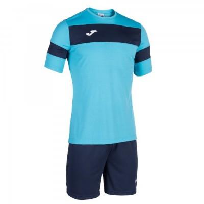 Комплект игровой Joma бирюзовая футболка с темно-синими шортами, модель ACADEMY II 101349.203
