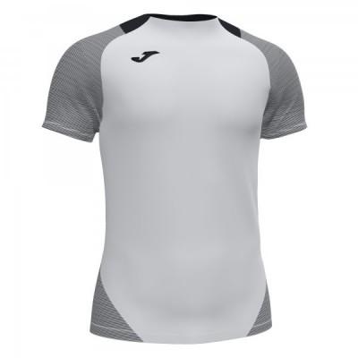 Футболка игровая Joma белая с контрастными черными вставками ESSENTIAL II 101508.201