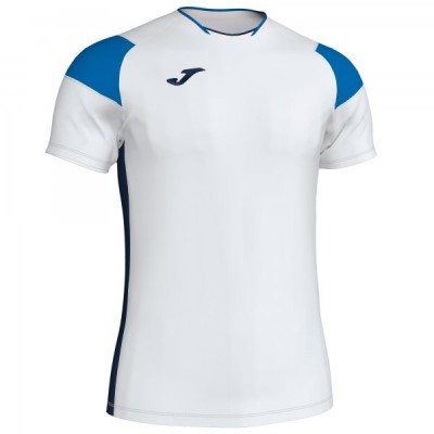 Футболка игровая Joma белая с синими вставками модель CREW III 101269.207