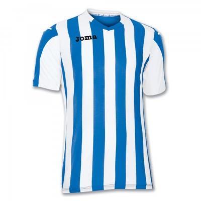 Футболка игровая Joma полоски синие и белые COPA 100001.700