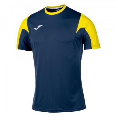 Футболка игровая Joma желтая с контрастными черными вставками ESTADIO 100146.901