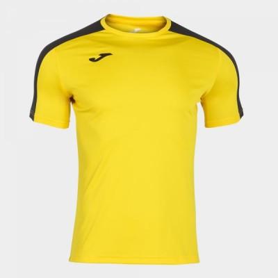 Футболка игровая Joma желтая с черными вставками ACADEMY 101656.901