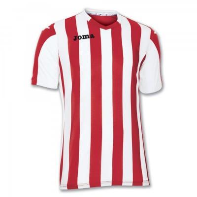 Футболка игровая Joma полоски красные и белые COPA 100001.600
