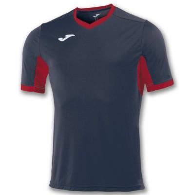 Футболка игровая Joma темно-синяя с красными вставками CHAMPION IV 100683.306