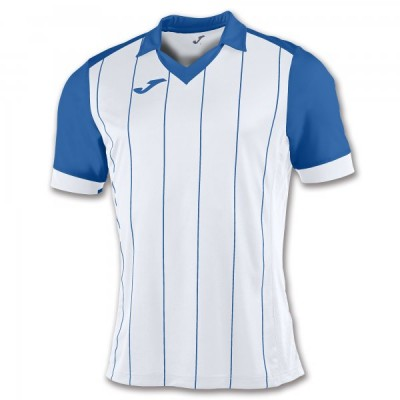 Футболка игровая Joma с белыми и синими полосками GRADA 100680.207