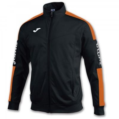 Спортивная кофта Joma CHAMPION IV 100687.108 черная с контрастными оранжевыми вставками