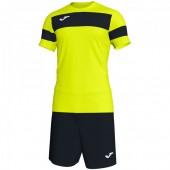 Комплект игровой Joma желтая футболка с черными шортами, модель ACADEMY II 101349.203
