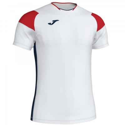 Футболка игровая Joma белая с красными вставками модель CREW III 101269.206