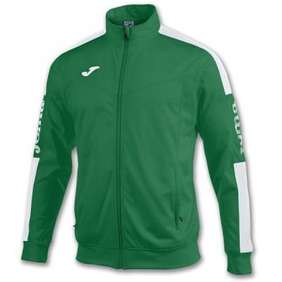 Спортивная кофта Joma CHAMPION IV 100687.452 зеленая с контрастными белыми вставками