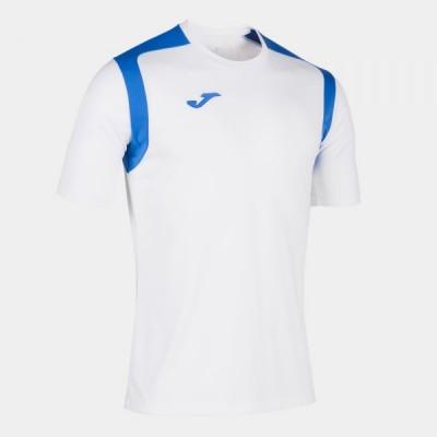 Футболка игровая Joma белая с синими вставками CHAMPION V 101264.207