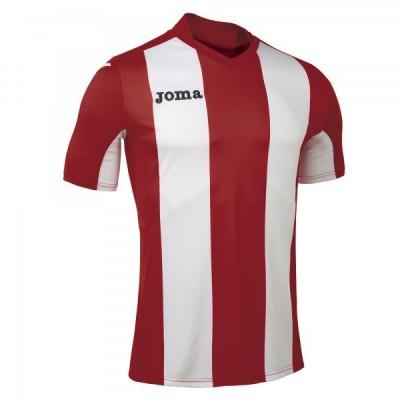 Футболка игровая Joma с красными и белыми полосками Pisa 100403.600